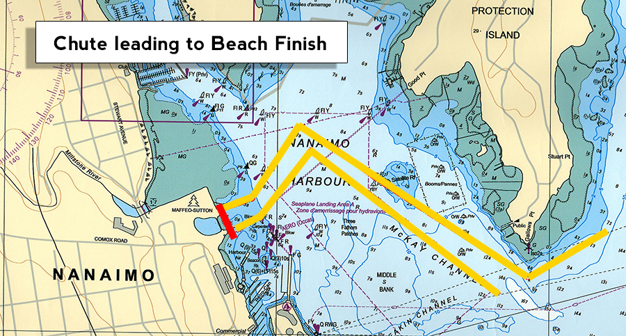 Bathtub Race Finish Map