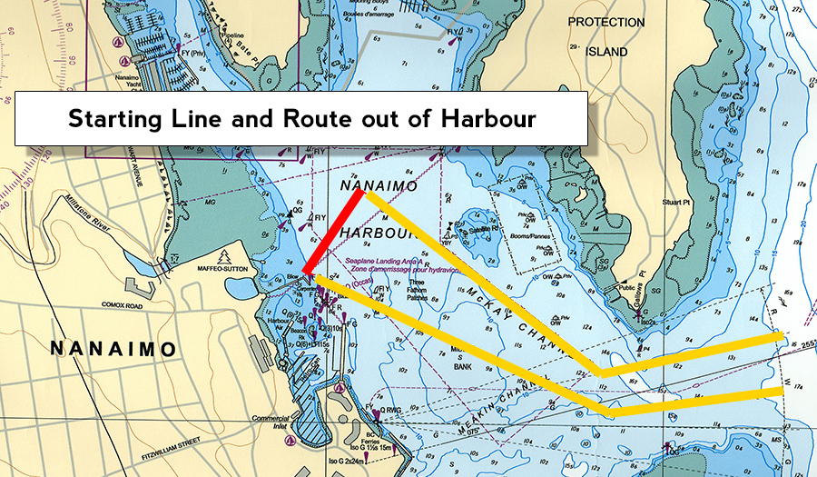 Bathtub Race Start Map