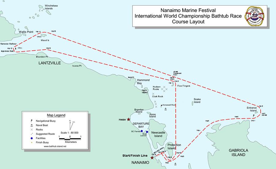 Loyal Nanaimo Bathtub Society Course Maps